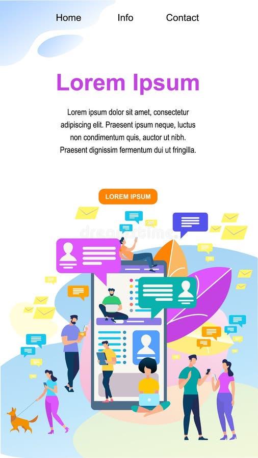 Världsomspännande folkkommunikation bilden för nätverket 3d framförde samkväm stock illustrationer