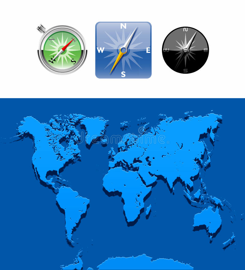 världsomspännande illustrationöversikt vektor illustrationer