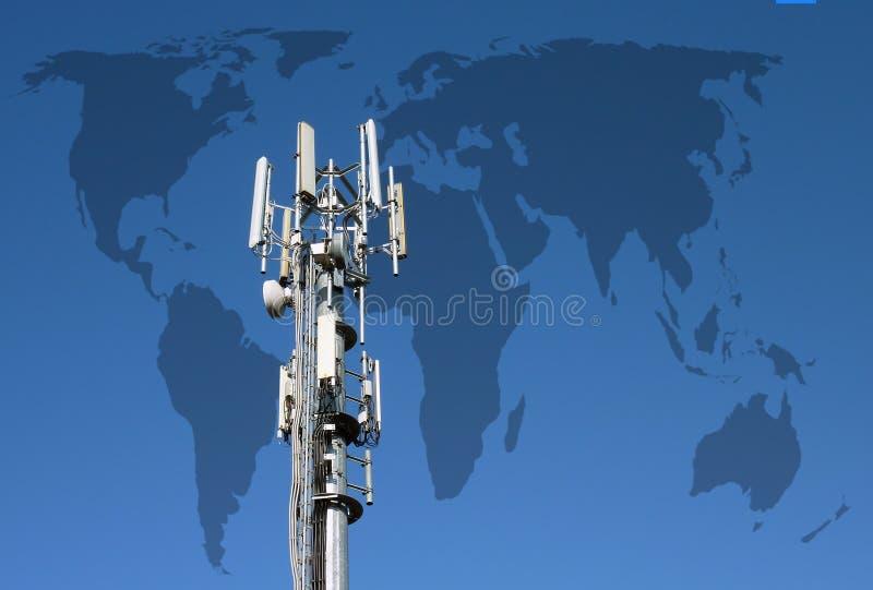 Världsomspännande kommunikationer vektor illustrationer