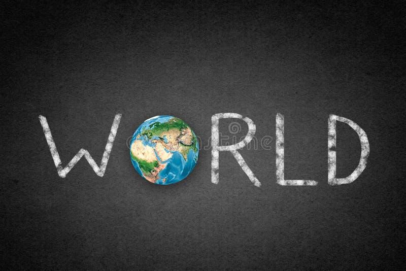 Världsord royaltyfri bild