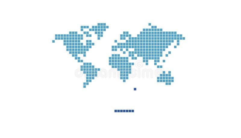 VärldsPIXELLogo Symbol Video Game Design illustration stock illustrationer