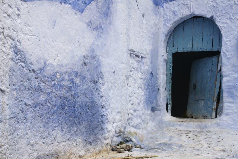 Världsstäder, Chefchaouen i Marocko royaltyfri foto