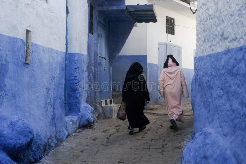 Världsstäder, Chefchaouen i Marocko arkivfoton