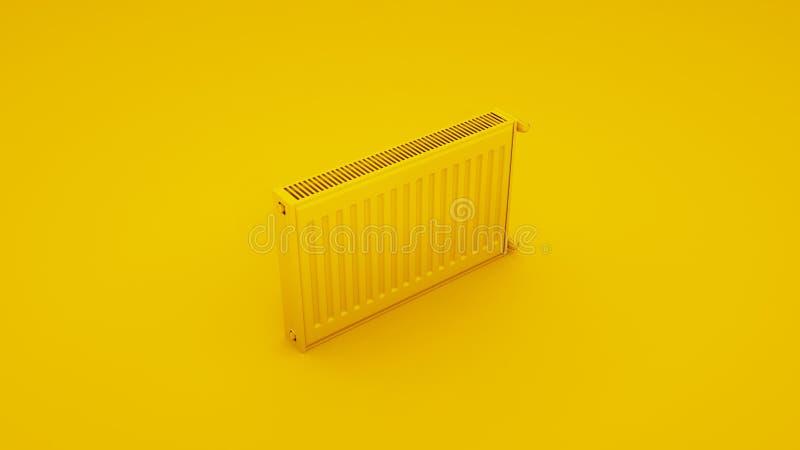 Värma det gula elementet framförande 3d vektor illustrationer