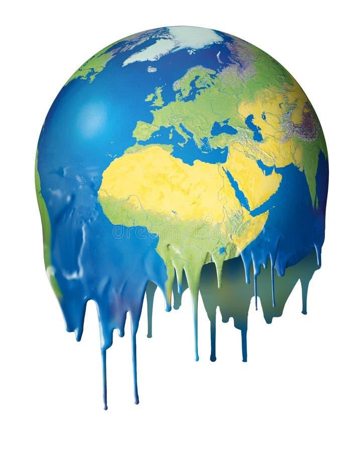 värme för planet för begrepp global smältande stock illustrationer