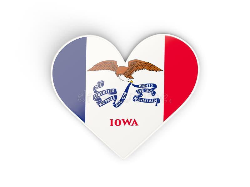 Värme med flaggan av iowa Förenta staterna lokalflaggor royaltyfri illustrationer