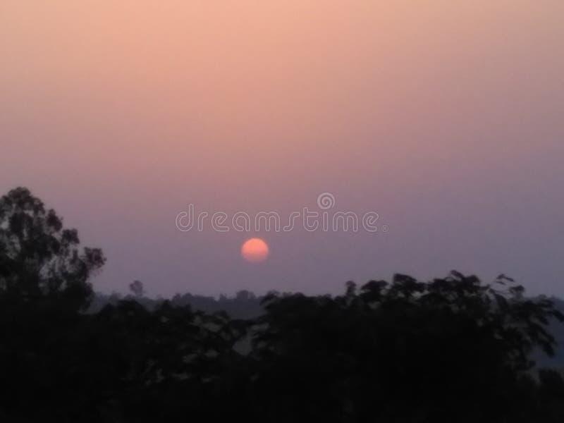 Vässa solnedgången arkivbilder