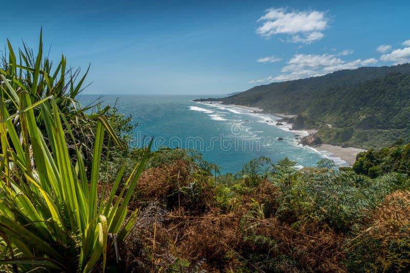 Västkusten av Nyas Zeeland södra ö arkivfoton