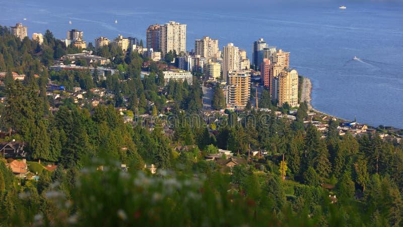 Västlig Vancouver-antennvy fotografering för bildbyråer