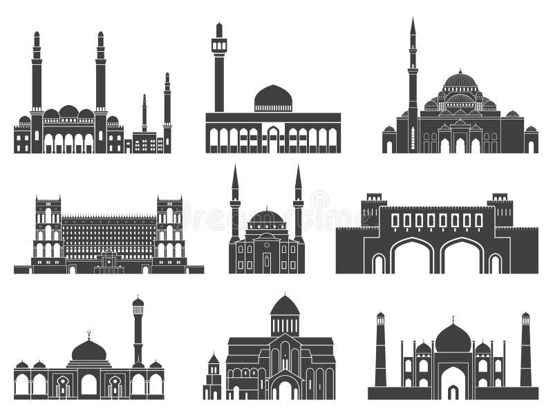 Västra Asien Abstrakt begrepp vektor illustrationer