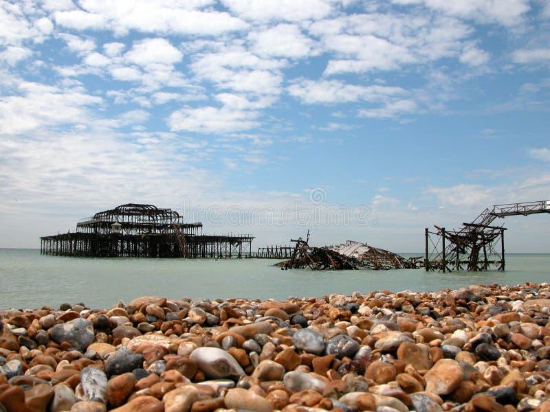 Västra Brighton Pir Royaltyfria Bilder