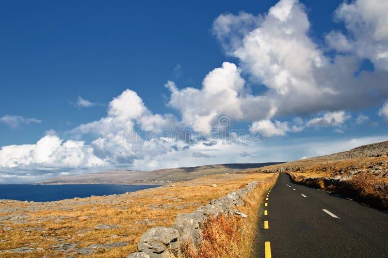 västra för scenisk seacape för ireland liggande vibrerande royaltyfria foton