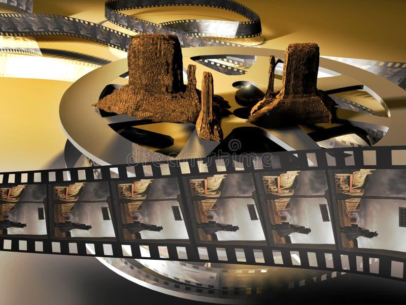 västra film royaltyfri illustrationer