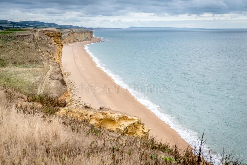 Västra fjärd Dorset för Jurassic kust arkivfoto