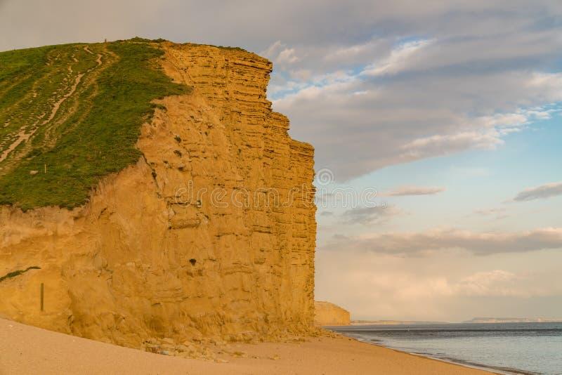 Västra fjärd, Jurassic kust, Dorset, UK royaltyfri bild