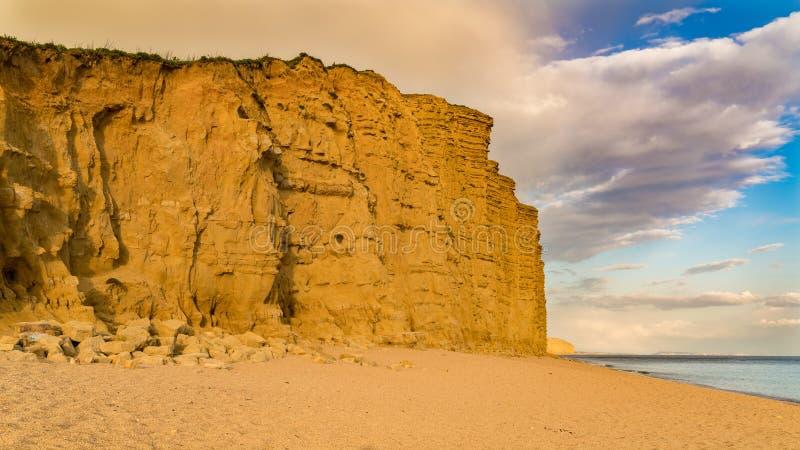 Västra fjärd, Jurassic kust, Dorset, UK arkivbild