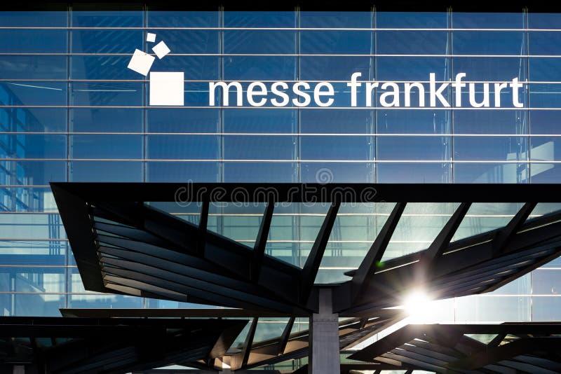 Västra Frankfurt för handelmässa port royaltyfri fotografi