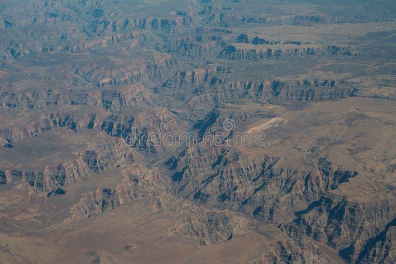 Västra Grand Canyon antenn arkivbilder