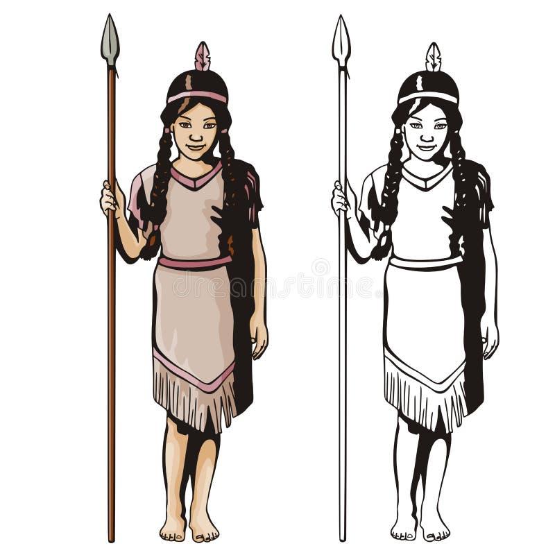 västra illustrationserie stock illustrationer