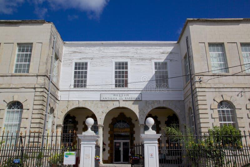 Västra Indies, karibiskt, Antigua, St Johns, museum av Antigua & Barbuda royaltyfri bild