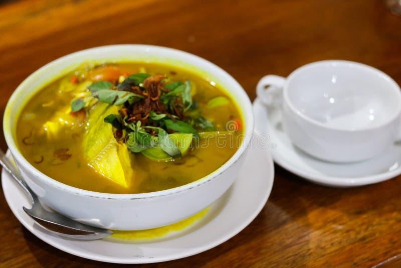 Västra indonesisk mat arkivbild