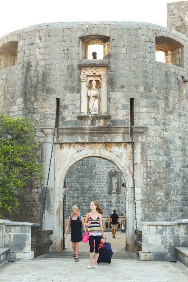 Västra ingång till den gamla staden Dubrovnik royaltyfri fotografi