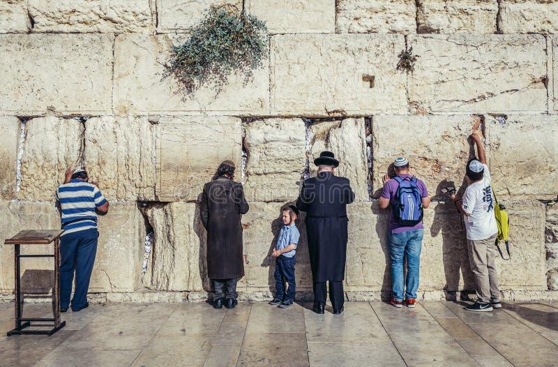 västra jerusalem vägg arkivfoton