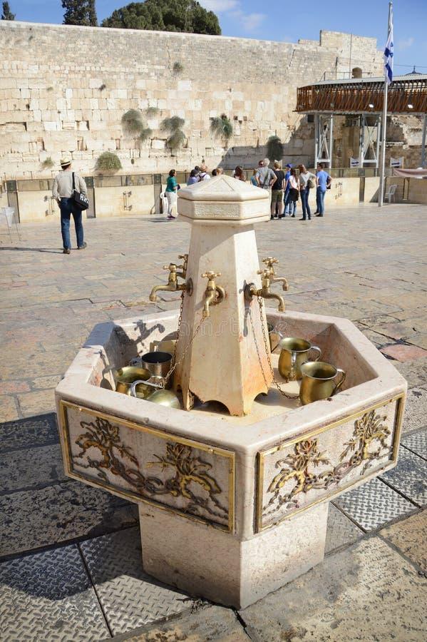 västra jerusalem vägg israel arkivfoton