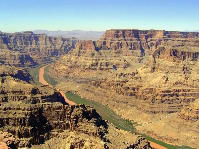 Västra kant för grand Canyon - sikten från Guanopunkt arkivbilder