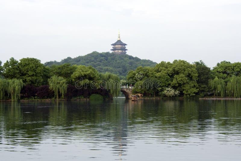 Västra Lake Hangzhou arkivfoto