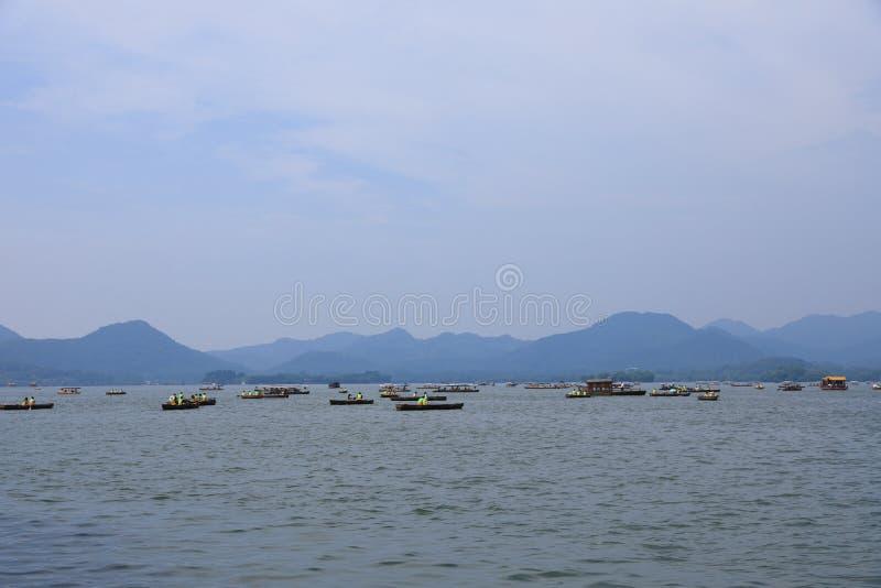 Västra Lake Hangzhou Forntider som är forntida royaltyfri foto