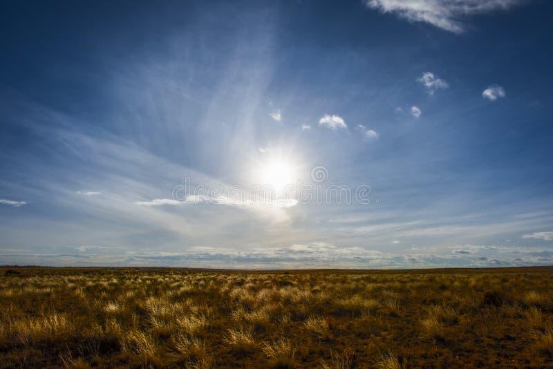 Västra landskap på grässlättarna av Colorado arkivfoto