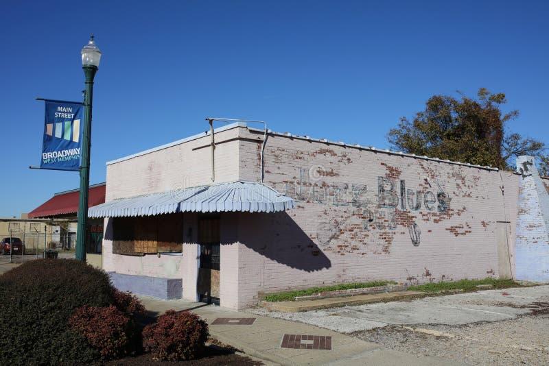 Västra Memphis Arkansas Main Street Building arkivfoto