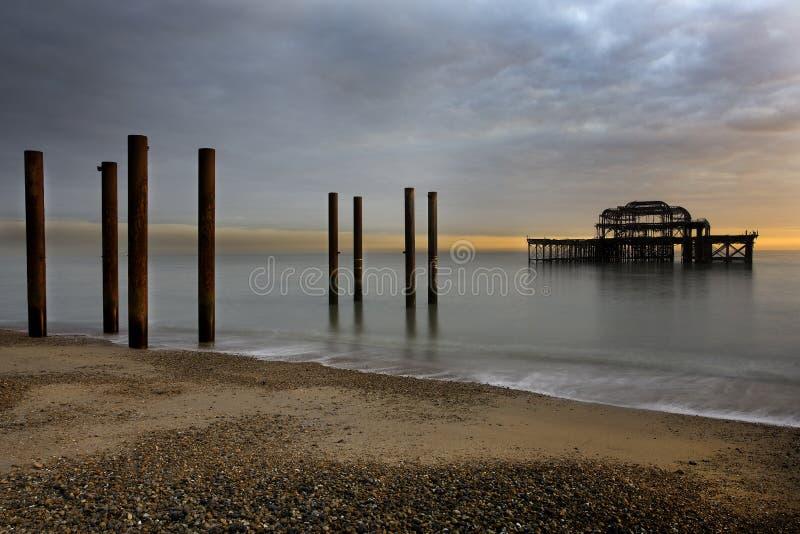 Västra pir Brighton fotografering för bildbyråer