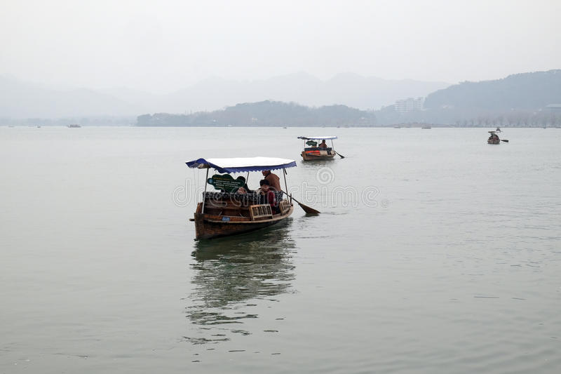 västra porslinhangzhou lake fotografering för bildbyråer