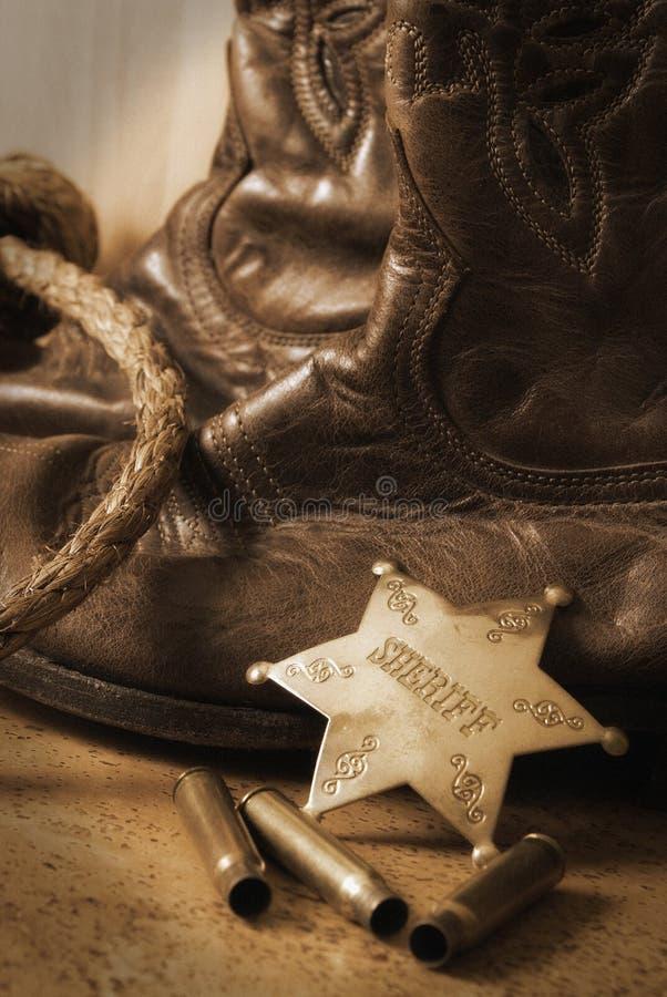 västra sheriff fotografering för bildbyråer