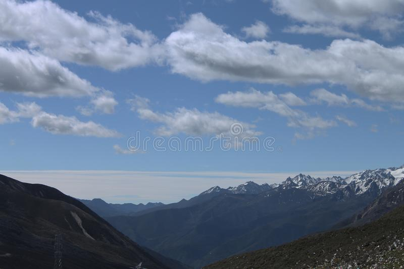 Västra Sichuan landskap royaltyfria foton