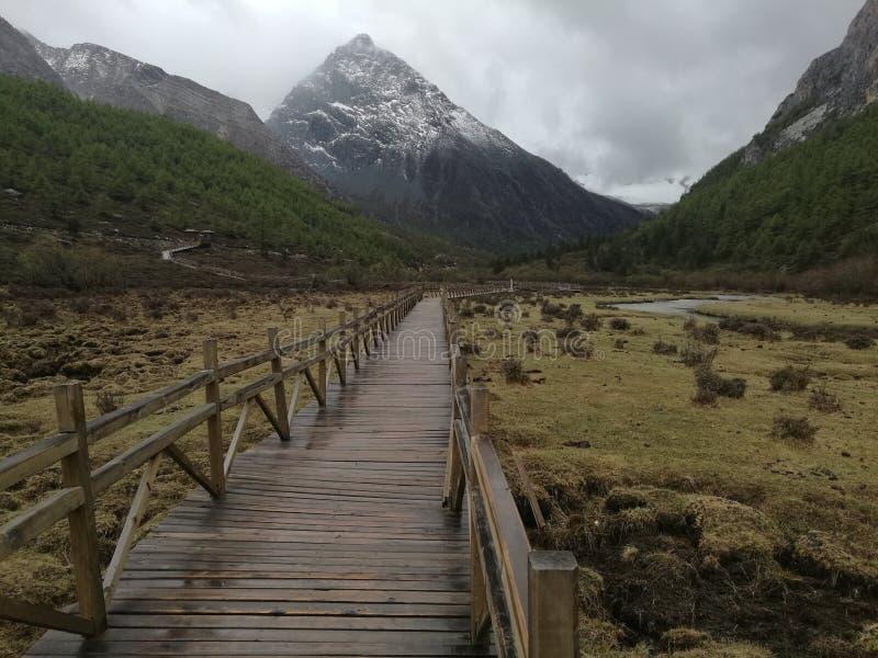 Västra Sichuan landskap royaltyfri fotografi