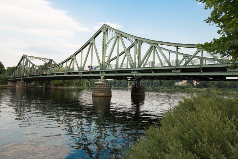 Västra sida för Glienicke bro royaltyfri fotografi