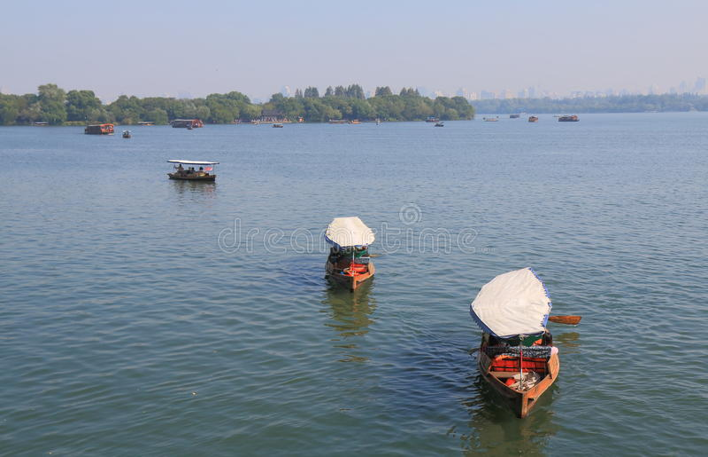 Västra sjökryssningfartyg Hangzhou Kina royaltyfri foto