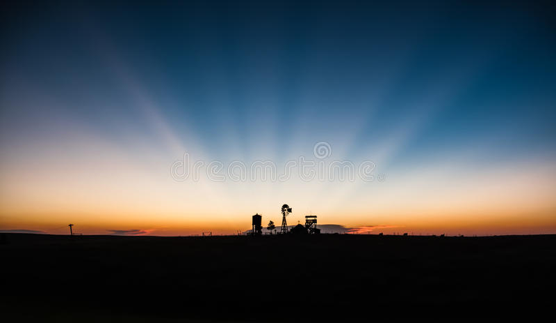 västra solnedgång royaltyfria foton