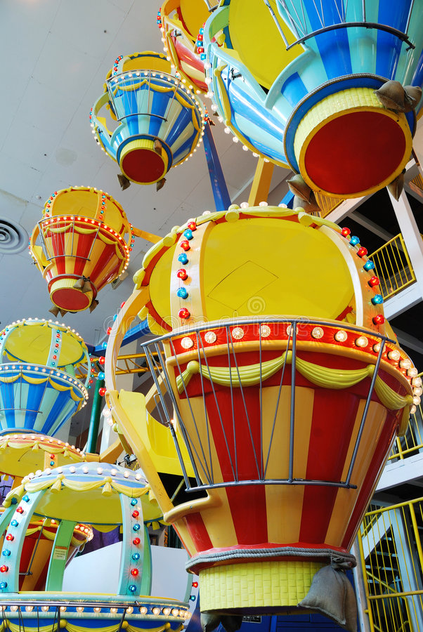 västra spinner för ballongedmonton galleria royaltyfria bilder