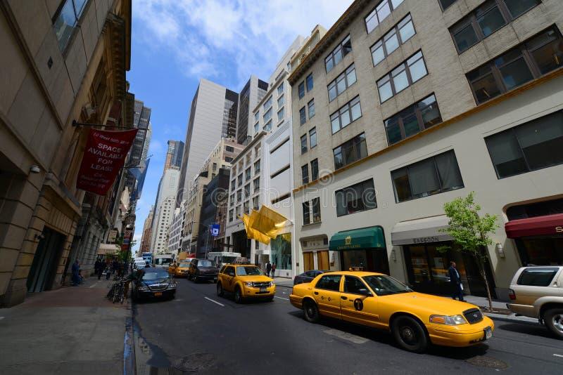 Västra 56th gata, Manhattan, New York City arkivfoton