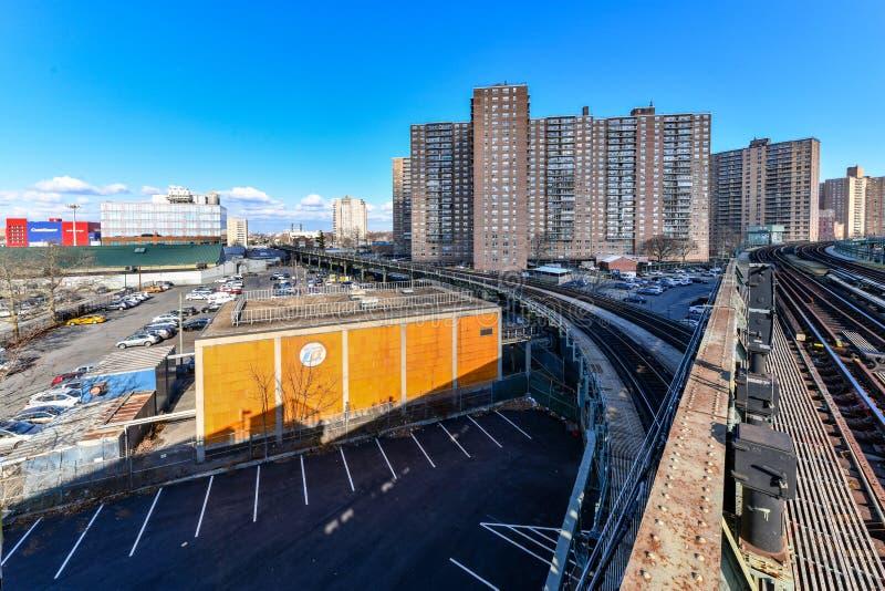 Västra 8th gatagångtunnelstation - New York City arkivfoton