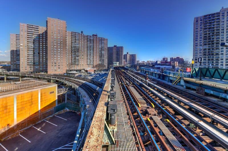 Västra 8th gatagångtunnelstation - New York City arkivfoto