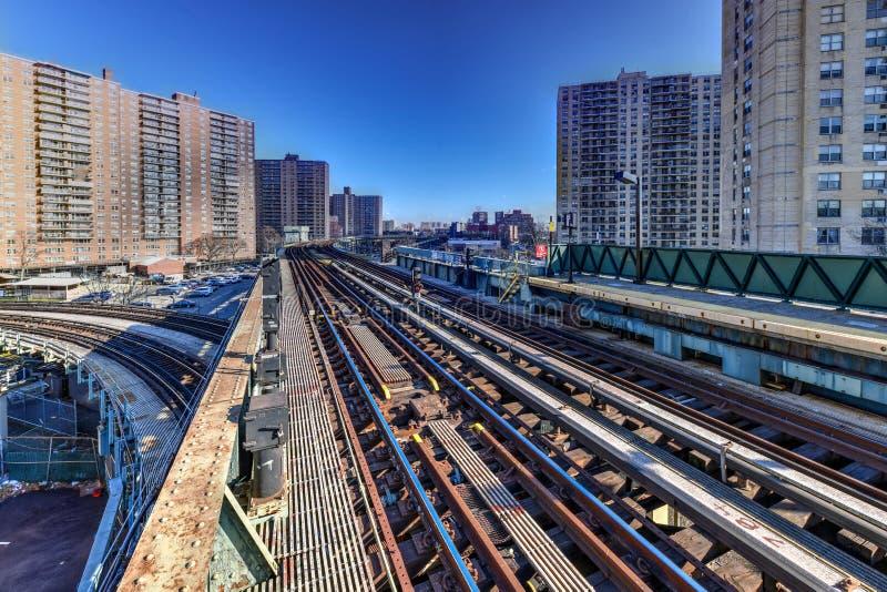 Västra 8th gatagångtunnelstation - New York City arkivbild