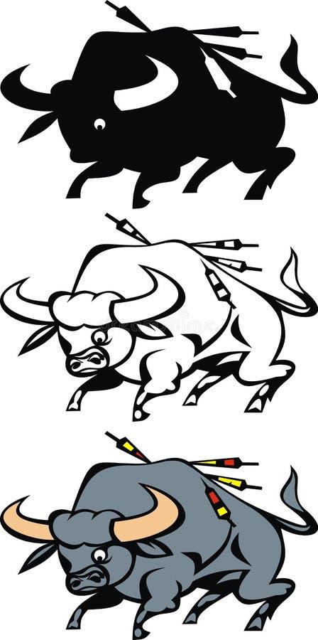 Västra tjur royaltyfri illustrationer