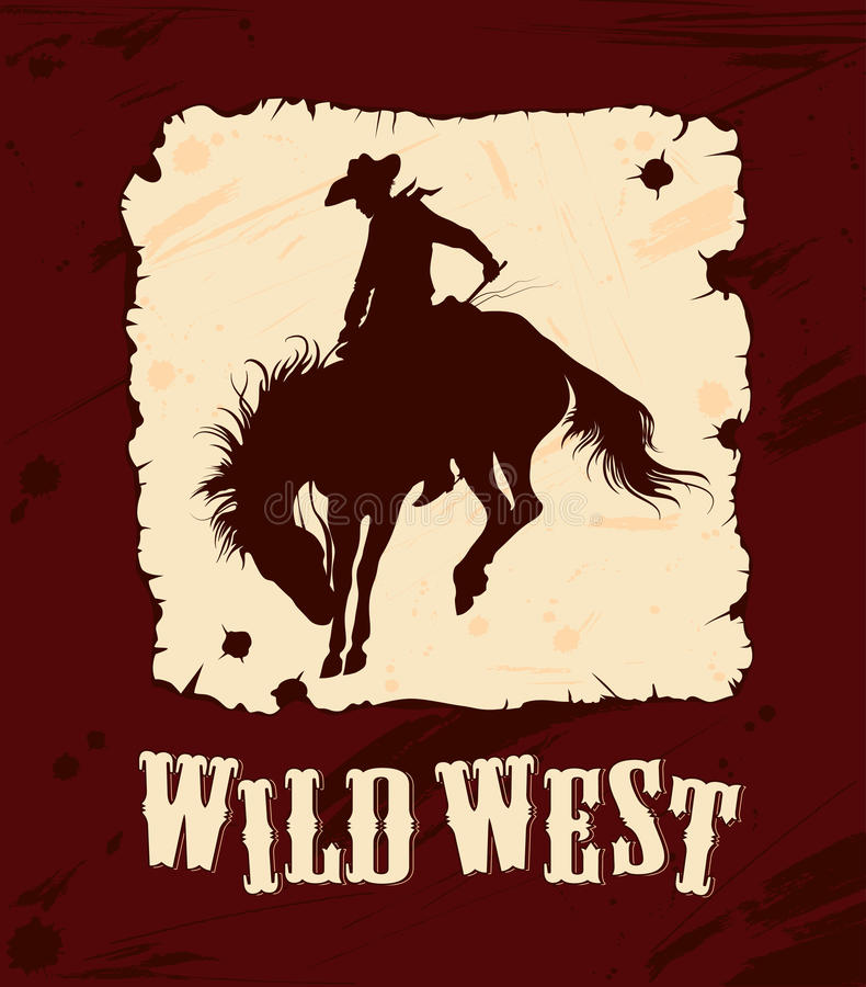 västra wild för bakgrund royaltyfri illustrationer