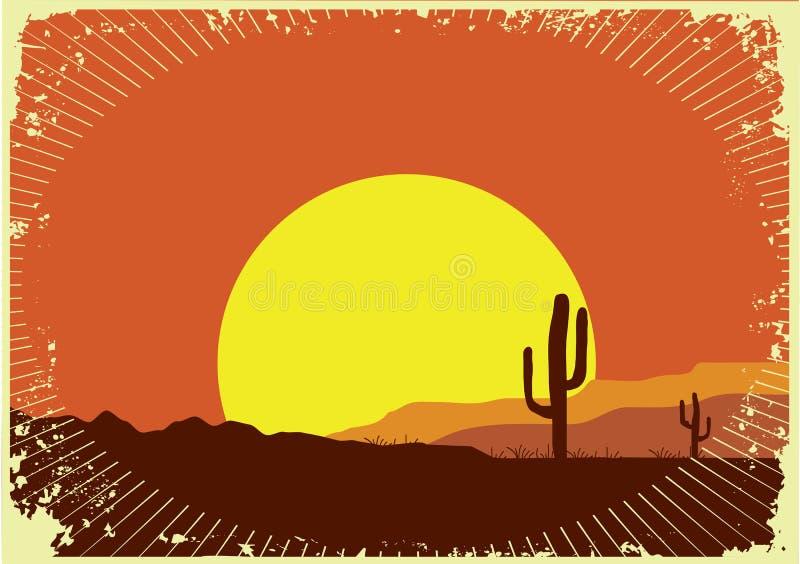 västra wild för bakgrundsgrunge stock illustrationer