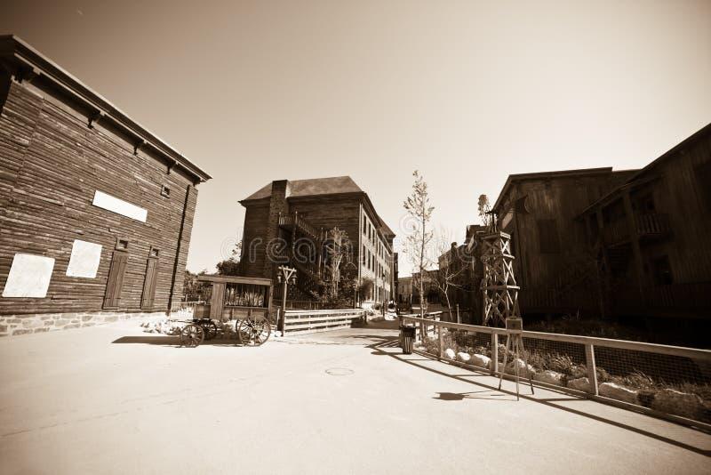 västra wild för town fotografering för bildbyråer